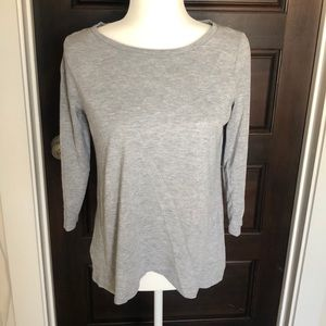 Tops - Anne Taylor Loft gray 3/4 sleeved t-shirt